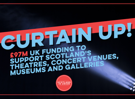 £97m UK funding to support Scotland's Theatres, Concert Venues, Museums and Galleries
