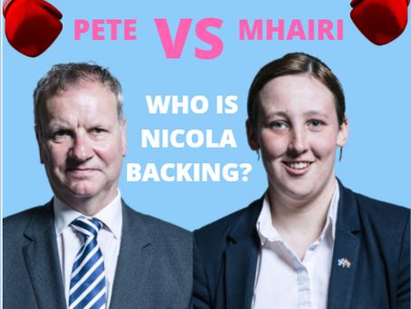 Pete vs Mhairi - who will Nicola back?