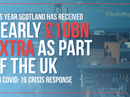 Scotland received additional £10bn to tackle COVID as part of the UK