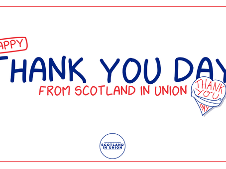Happy Thank You Day from Scotland in Union