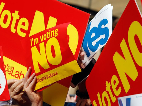 I voted Yes, but soon felt relieved we stayed in the UK