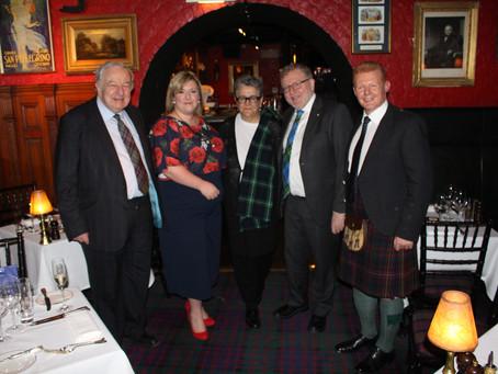 Scotland in Union's London Burns Supper 2020