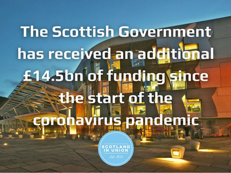 Scotland received an additional £14.5bn since start of pandemic