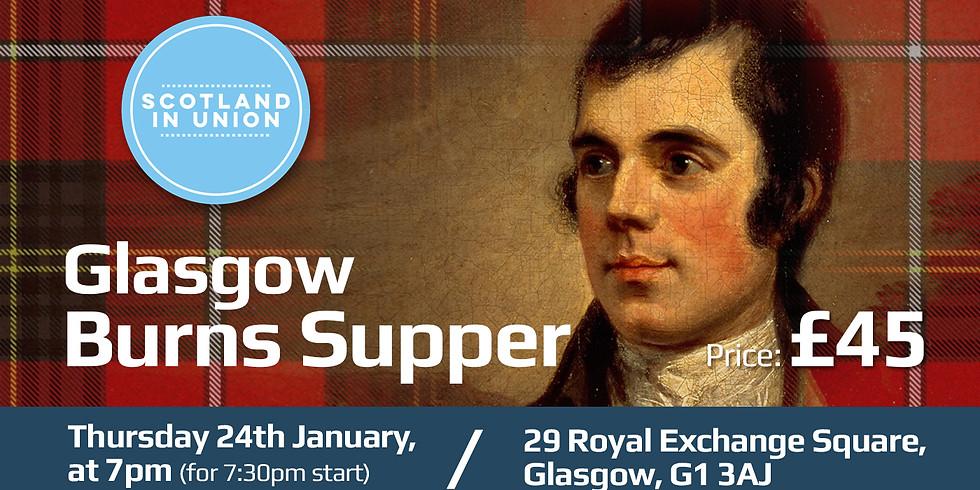 Glasgow Burns Supper - Thursday 24th January 2019