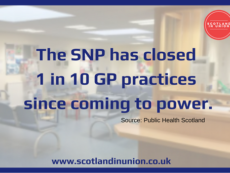 1 in 10  GP PRACTICES CLOSED UNDER THE SNP