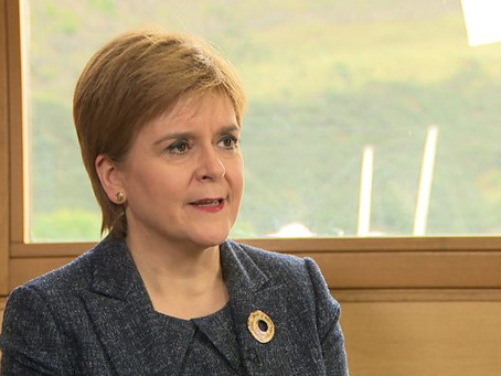 STURGEON IGNORING SCOTS ON SCEXIT AND FAILS TO RULE OUT HARD BORDER
