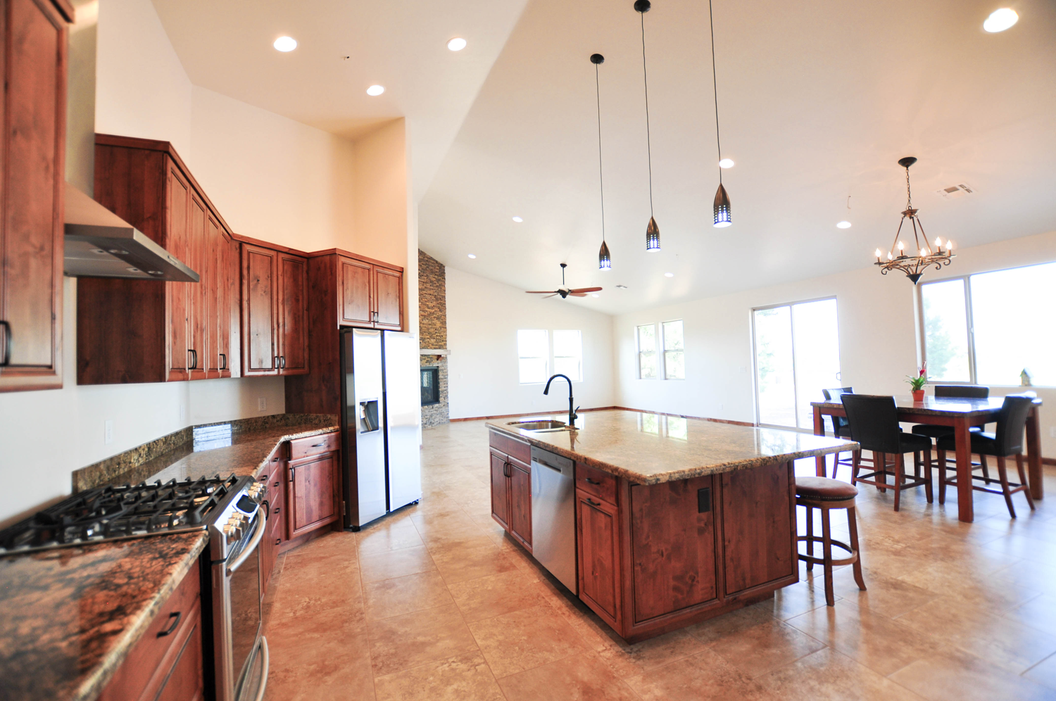 Kitchen - Dining - Living