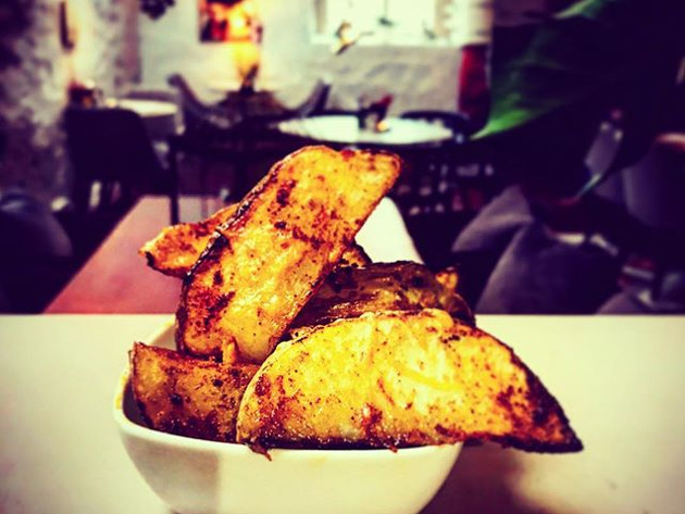 Parmesan, paprika and truffle wedges, ma