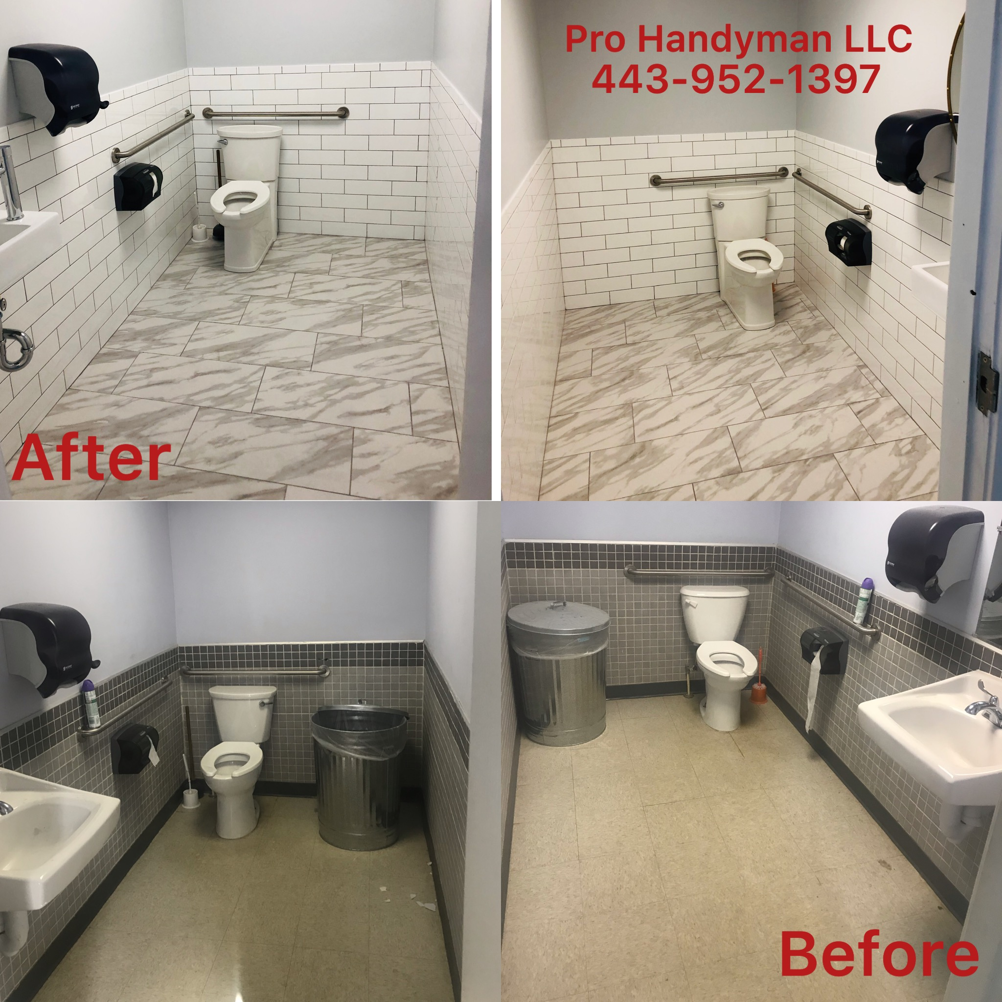 Full Commercial Bathroom Remodel
