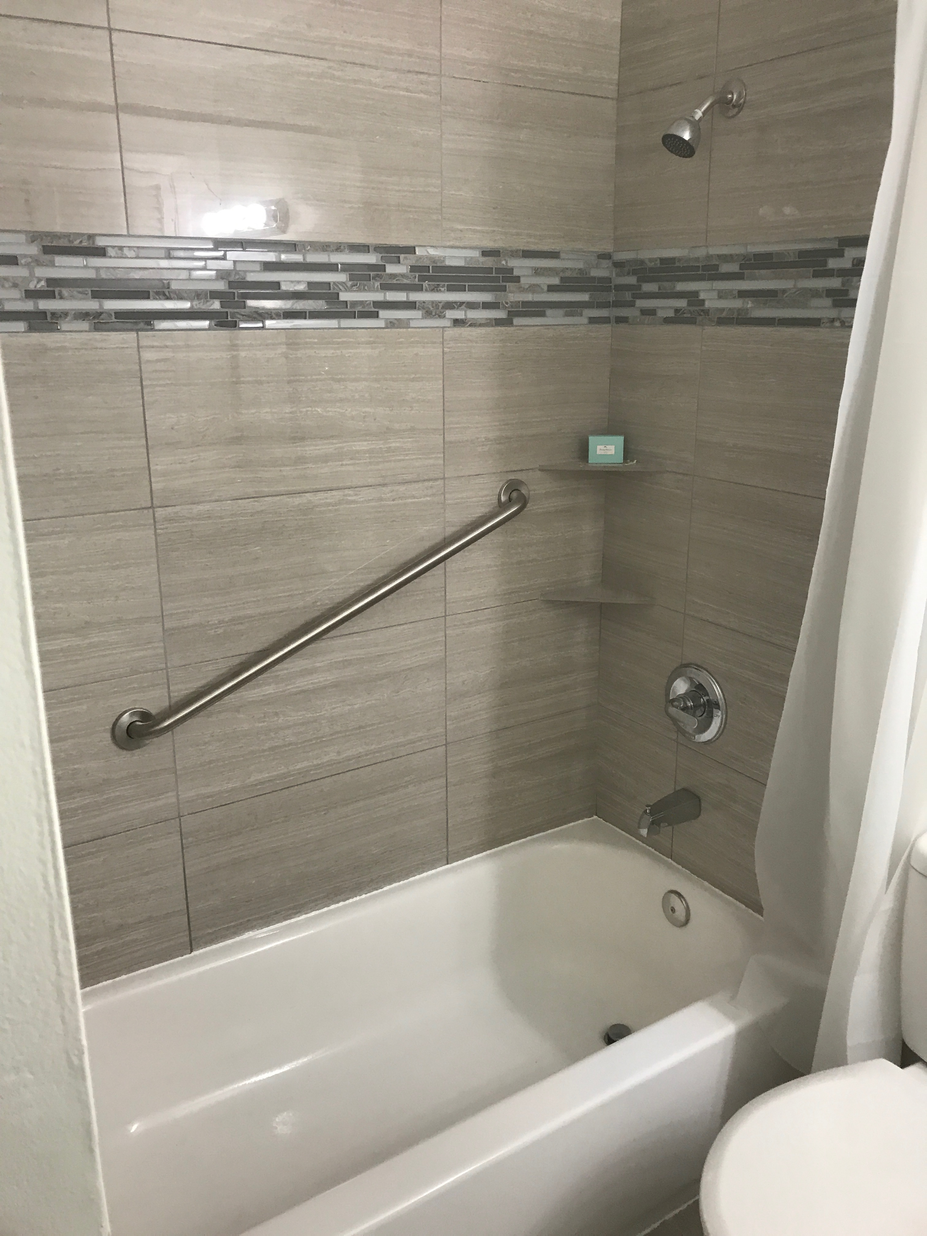 Shower handle installation