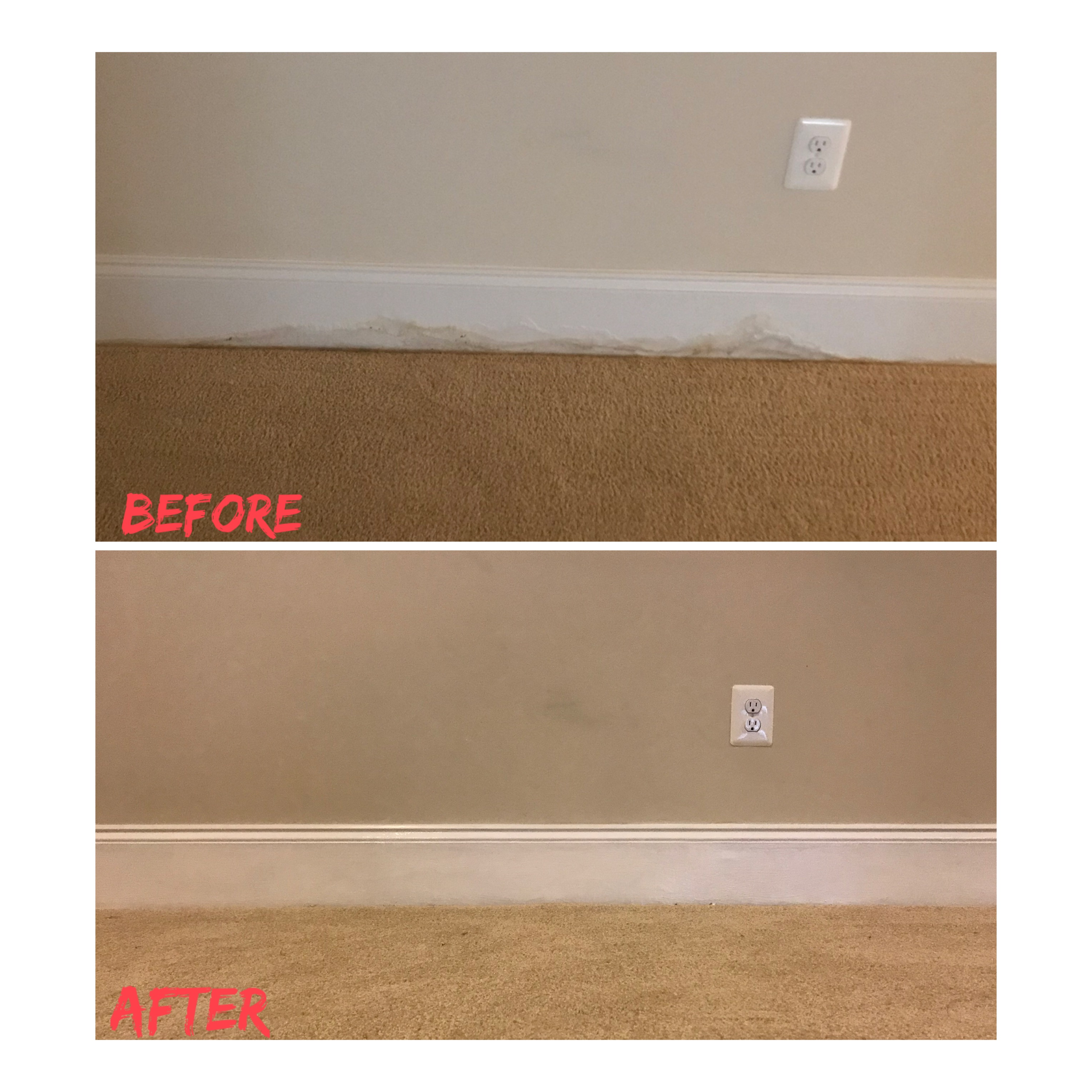 Before and After Wet Mold Removal