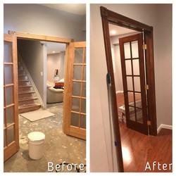 Door frame replacement and repair