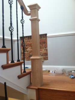 Beautiful railing post and stairs