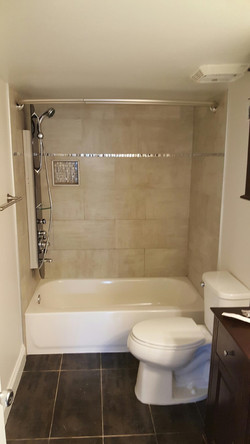 Finished Bathroom Remodeling