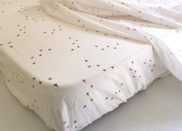 Chicken Prints Cot Bedding Set