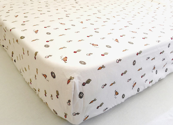 Veggie Patch Cot Fitted Sheet