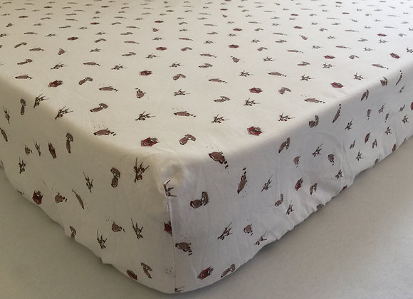 Happy Hens Cot Fitted Sheet