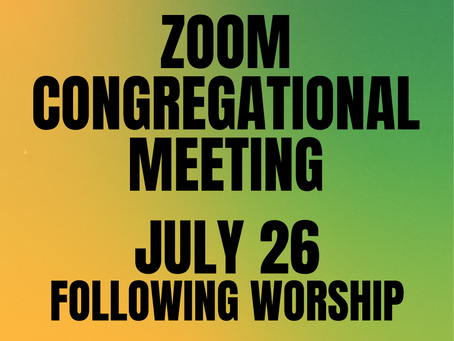Zoom Congregational Meeting July 26