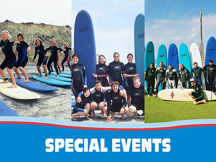 Special Events Surf Lessons
