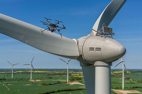 Drone during maintenance and inspection