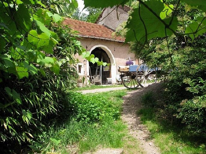 Boerderij, Moulin Begeot, kar, Frankrijk, vakantie