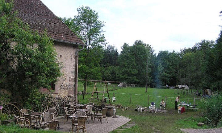 camping, boerderijcamping, terras, Frankrijk