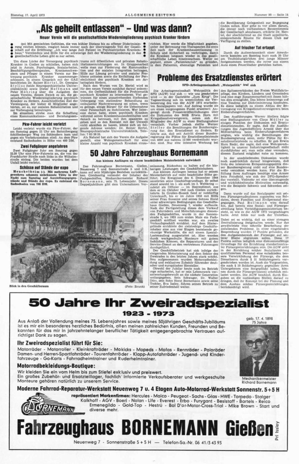 Bornemann wird 50