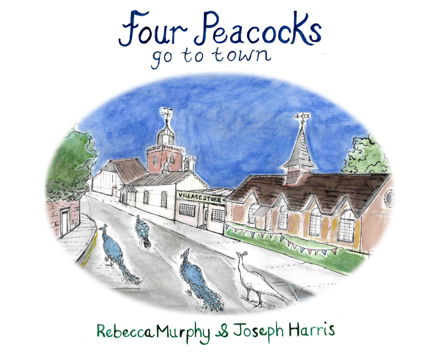 Four Peacocks Go To Town