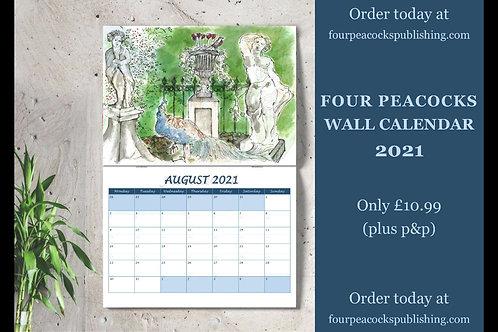 Four Peacocks 2021 Wall Calendar
