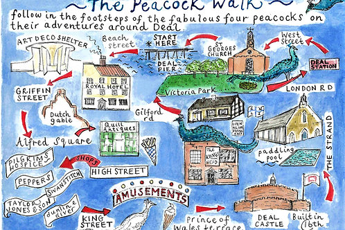 The Peacock Walk ~ A3 Poster