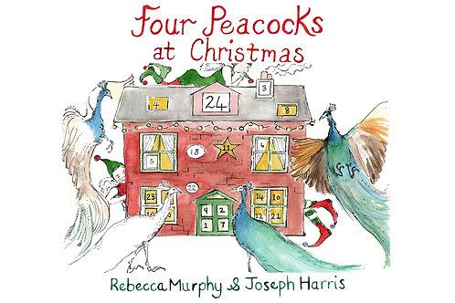 Four Peacocks At Christmas ~ Hardback