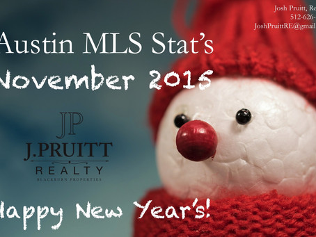 Austin MLS Stats November 2015