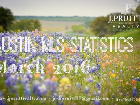 Austin Real Estate Statistics March 2016