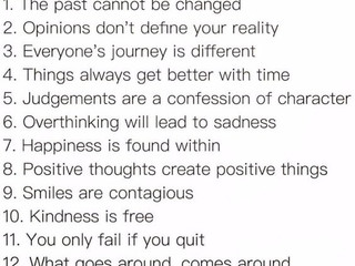 12 Daily Reminders.