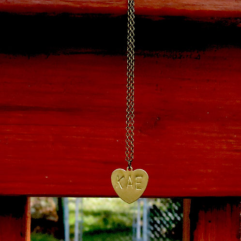 KAE Brass Heart Necklace