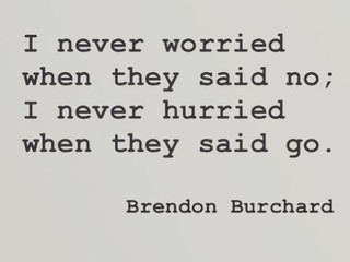 Never worried. Never hurried.