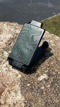 BLACK CHARRED MONSTER GREEN DRAGON CERAKOTE