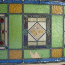 Close up of centre panel window (pre-restoration)