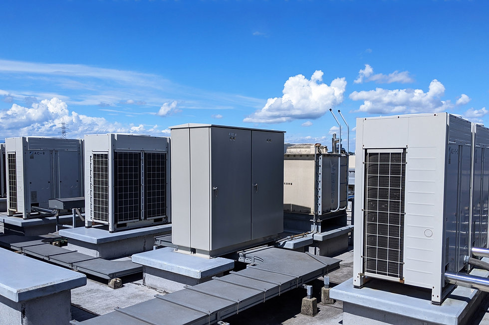 屋上の空調設備