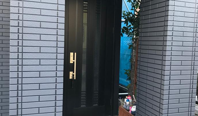 ナノグラスコート施工後玄関