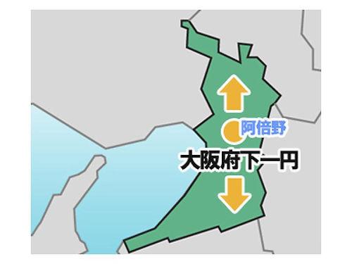 出張エリア地図