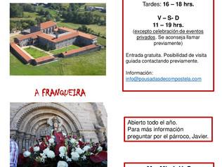 Horarios de verano monasterios ACIGAL