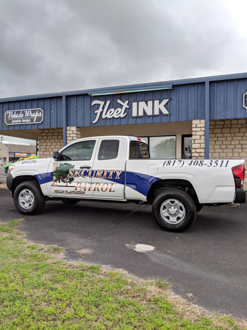 Security Truck Wrap