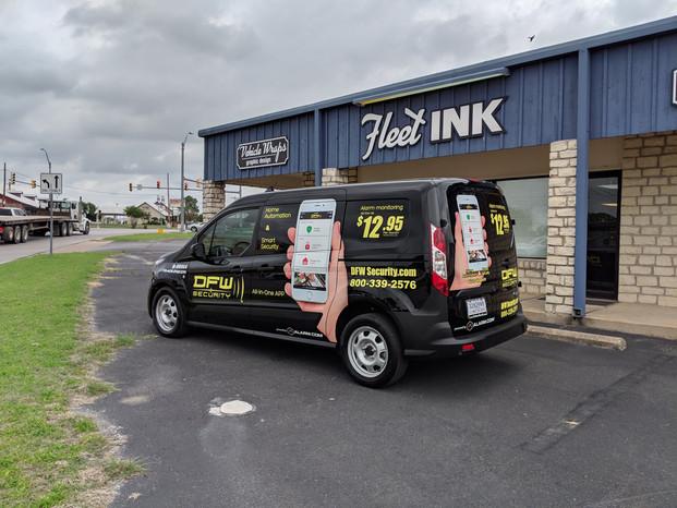DFW Security Van Wrap