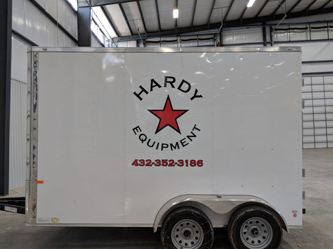 Hardy Trailer Decals