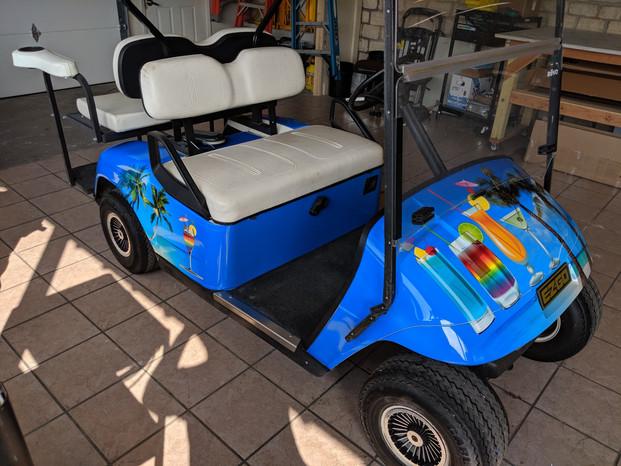 Golf Cart Beach Wrap