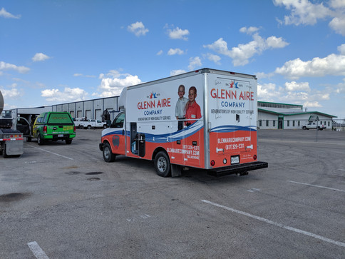 Glenn Aire Box Truck Wrap