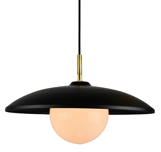 """Okanagan Glass 15"""" with replaceable LED bulb included, 3000k, 7w, 650 lu"""