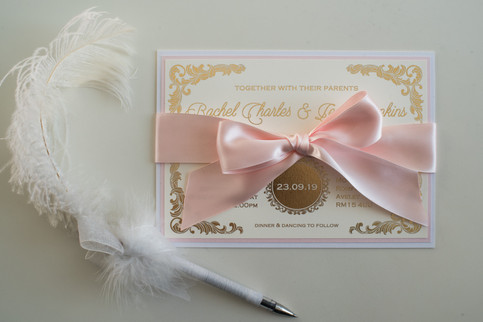 Luxe Foiled Wedding Invitation