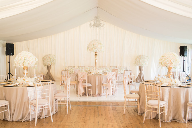 Champagne, Gold & Blush Lavish Floral Package